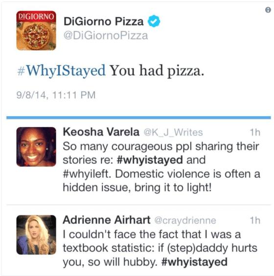 DiGiorno insensitive use of hashtag