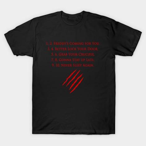 Freddy Krueger Rhyme Tshirt